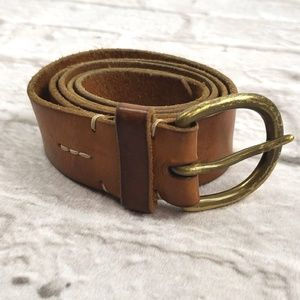 Women's Brown Leather Belt size Large